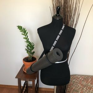 Yoga mat and carrying strap